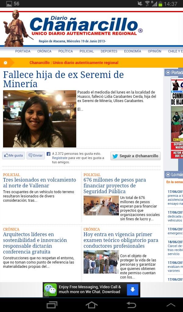Diario el mercurio calama online dating