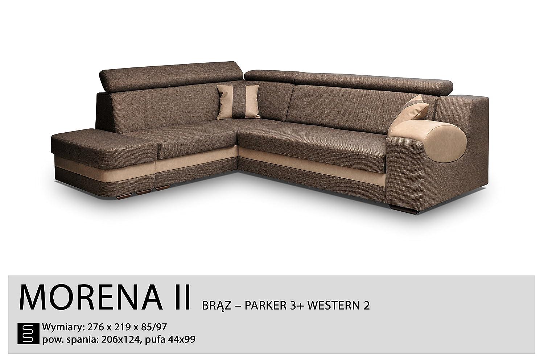 Bezaubernd Sofa Mit Funktion Referenz Von Ecksofa-braun – Sleep Funktion, Bett Container- Stoff
