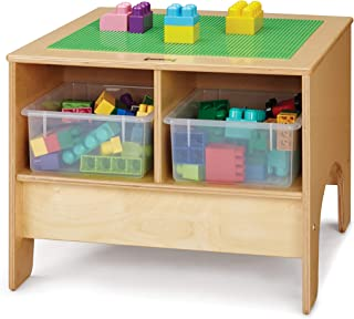 product image for Jonti-Craft 57459JC KYDZ Preschool Brick Compatible Building Table with Assorted Colored Bins