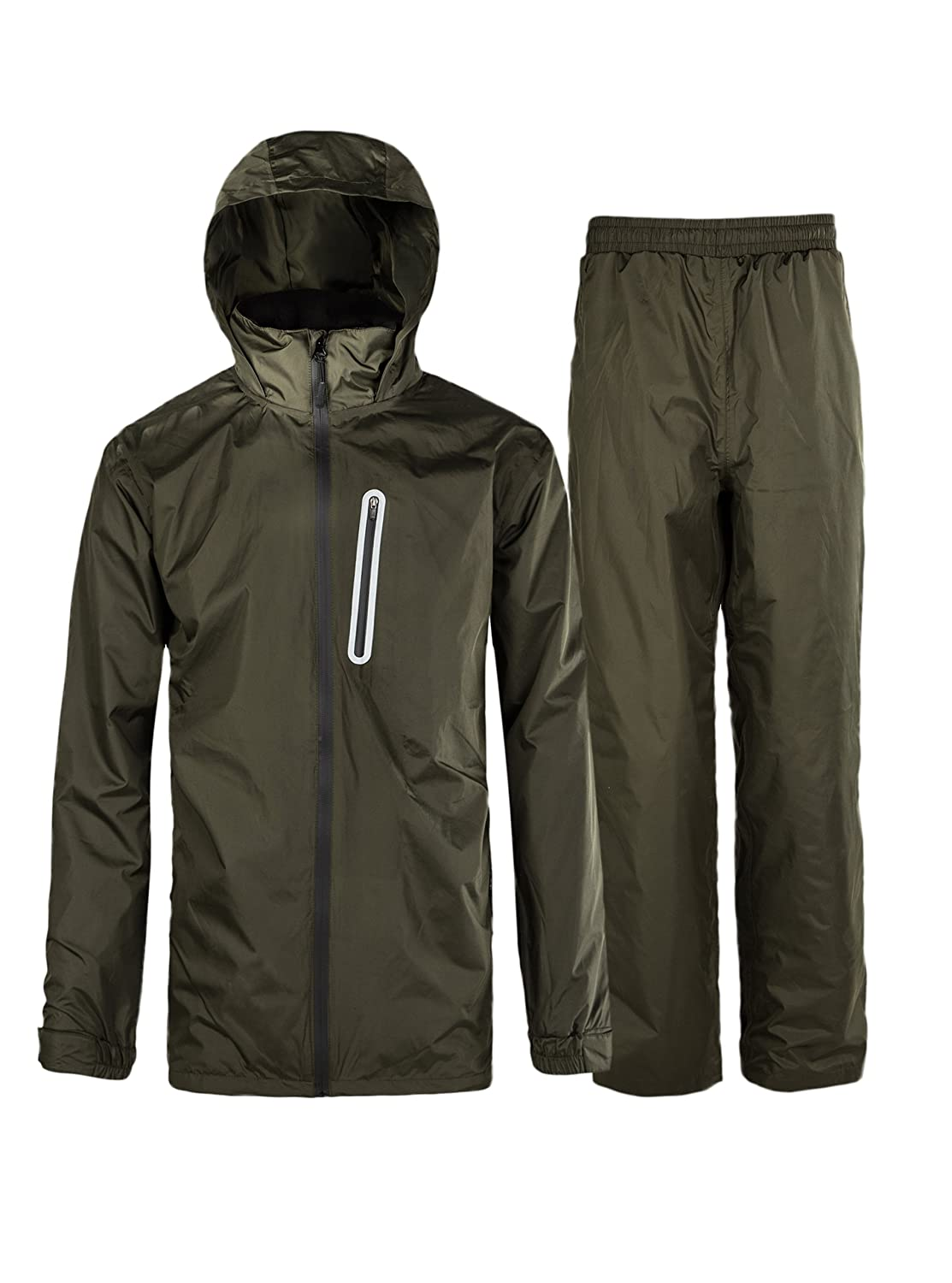 Rain Suit for Men Waterproof Hooded Rainwear (Jacket & Trouser Suit) ZITY ZITYRAINSUIT0001