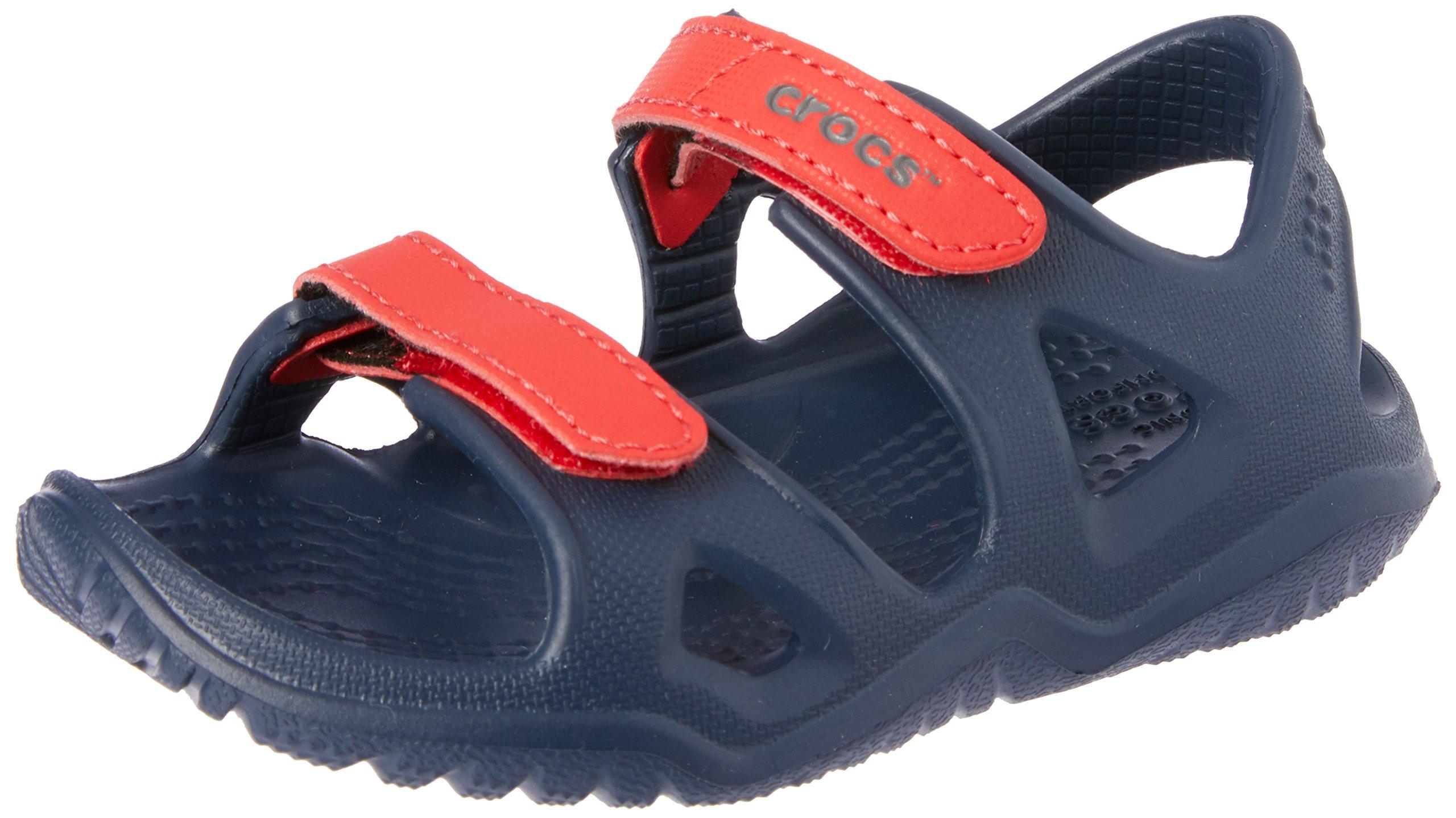 Crocs unisex-kids Swiftwater River Sandal Sandal, Navy/Flame, 8 M US Toddler by Crocs