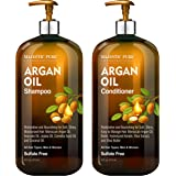Argan Oil Shampoo and Conditioner, from Majestic Pure, Improve formula Sulfate Free, Vitamin Enriched, Volumizing…