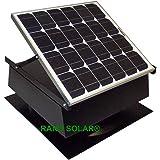 Rand Solar Powered Attic Fan-30 Watt-w Roof Top Ventilator With Thermostat