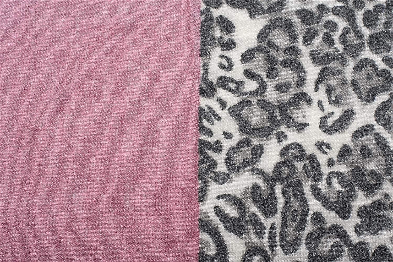 sciarpa invernale stola styleBREAKER Sciarpa da donna con divisione a 3 colori e motivo leopardo foulard 01017101