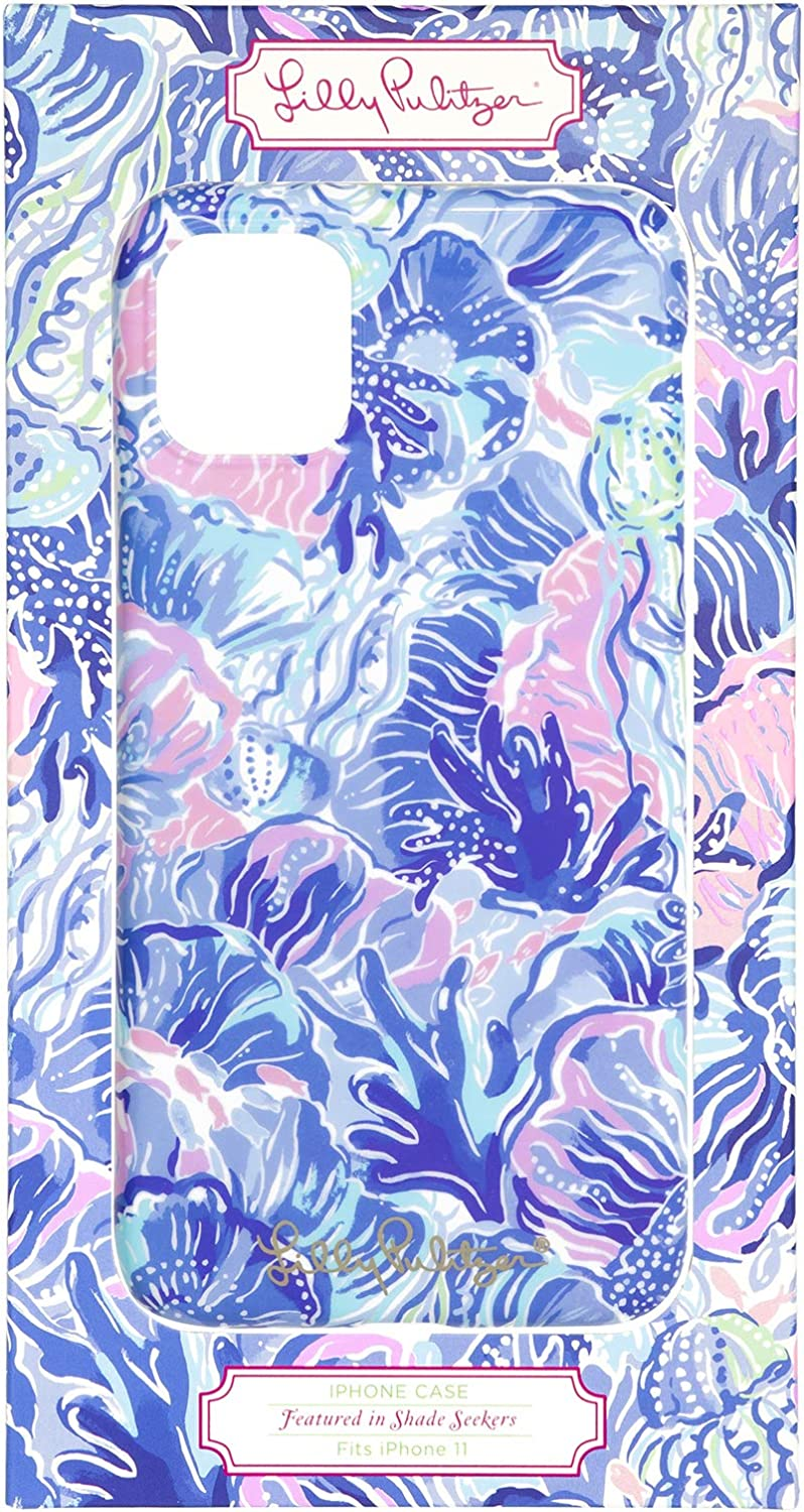 Lilly Pulitzer Cute Pink/Blue iPhone 11 Case for Women, Shade Seekers