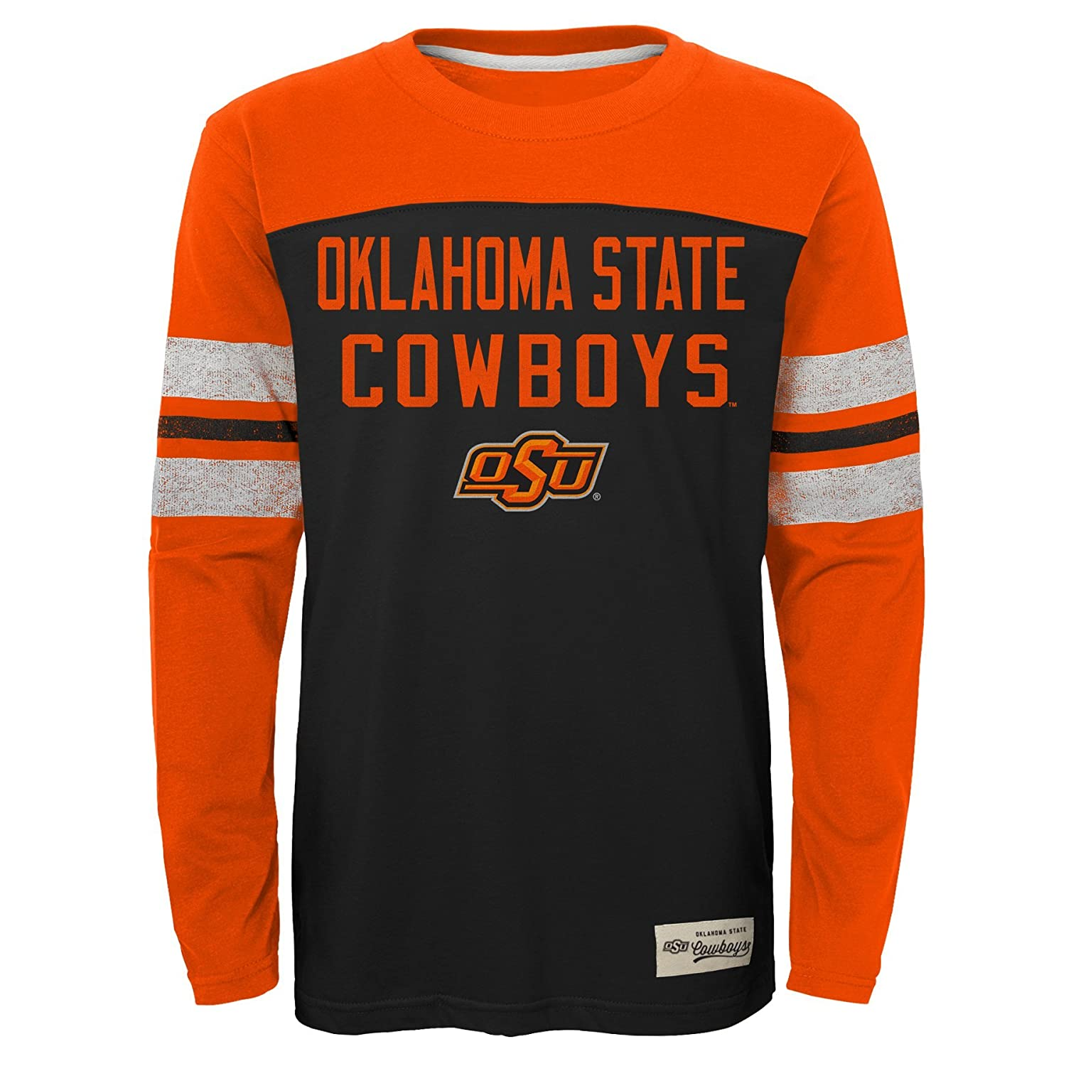 NCAA by Outerstuff NCAA Oklahoma State Cowboys Kids /& Youth Boys Legacy Tee Long Sleeve Crew Black Youth Large 14-16