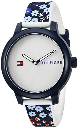 Tommy Hilfiger Womens Everyday Sport Quartz Resin and Silicone Casual Watch, Color: