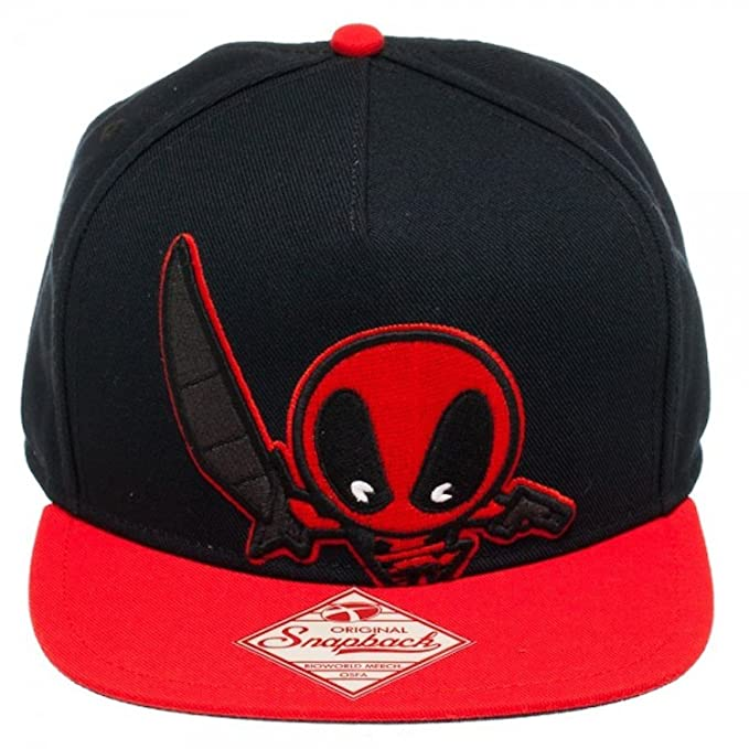 Marvel Comics Deadpool Kawaii Red Black Snapback Hat  Amazon.ca  Clothing    Accessories 84ff7f41a92c