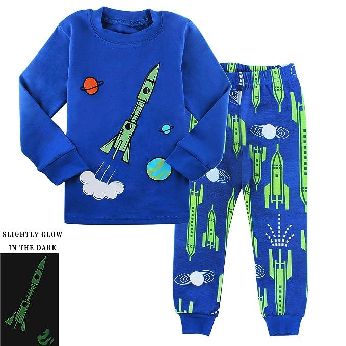 5b7317109c0d Amazon.com  AmberEft Boys Pajamas Kids Clothes Toddler PJs Sets Long ...