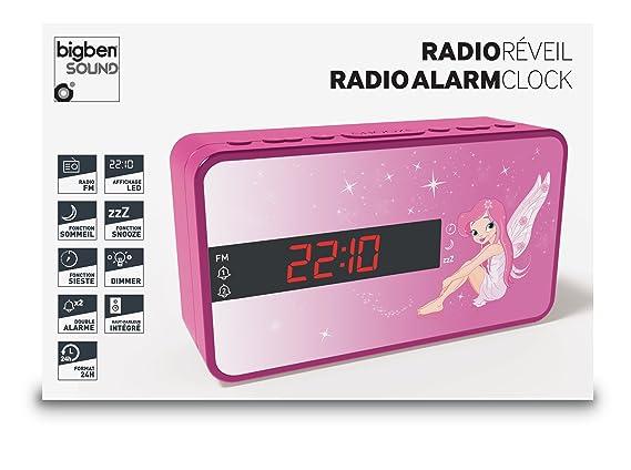 Bigben Interactive Radio réveil Double Alarme Fairy - Radios Portables  (Horloge, Analogique, FM, LED, Violet, Image)  Amazon.fr  Lecteurs MP3    Casques ac40760bd6ef