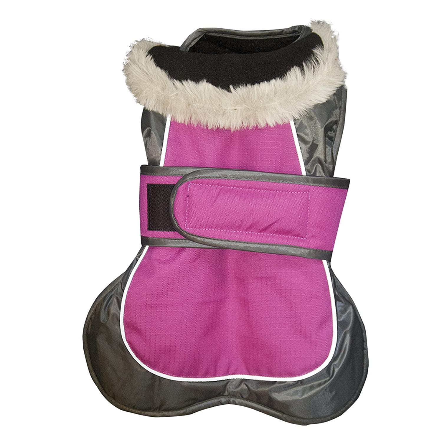 Raspberry 24in Raspberry 24in Happy Pet Products 2-in-1 Thermal Dog Coat (24in) (Raspberry)