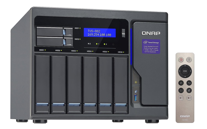 QNAP TVS-882 Ethernet Torre Negro NAS - Unidad Raid (6 TB, Unidad ...