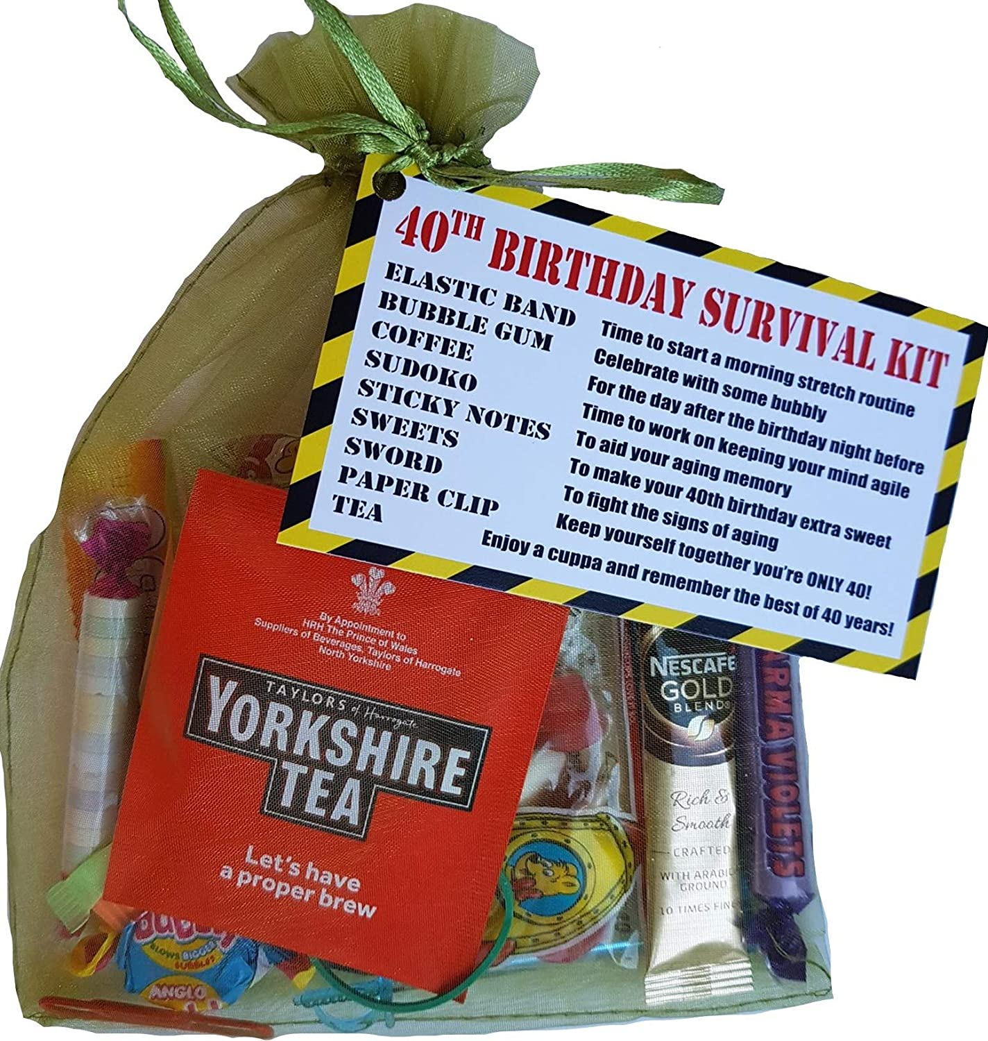 40th Birthday Survival KIT Gift Present Card Fun Cheeky Funny Idea For Him Her Men Women Grandad Mum Dad Brother Friend Or Sister Amazoncouk