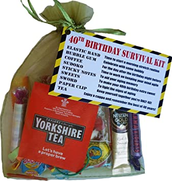 40th Birthday Survival KIT Gift Present Card Fun Cheeky Funny Idea For Him Her