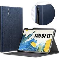INFILAND Etui do Samsung Galaxy Tab S7 11 cali (T870/T875) 2020, wielokątne wsparcie z przodu powłoka PU skórzany…