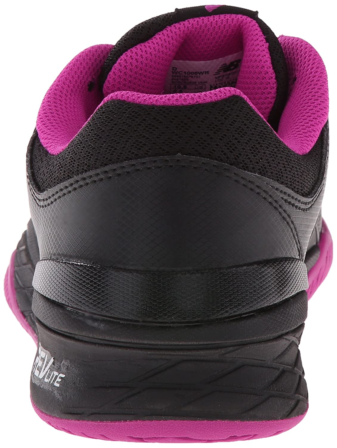 New Balance Women's WC1006v1 Tennis Shoe B00V3QVF9U 8.5 2A US|Black/Pink