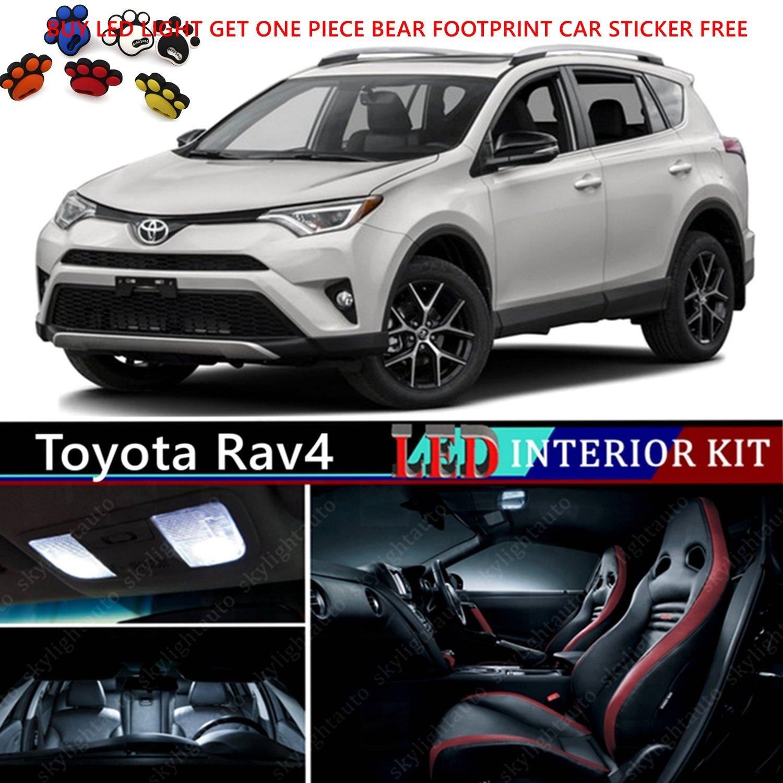Amazon com 12pcs led premium xenon white light interior package deal for toyota rav4 2013 2016 automotive