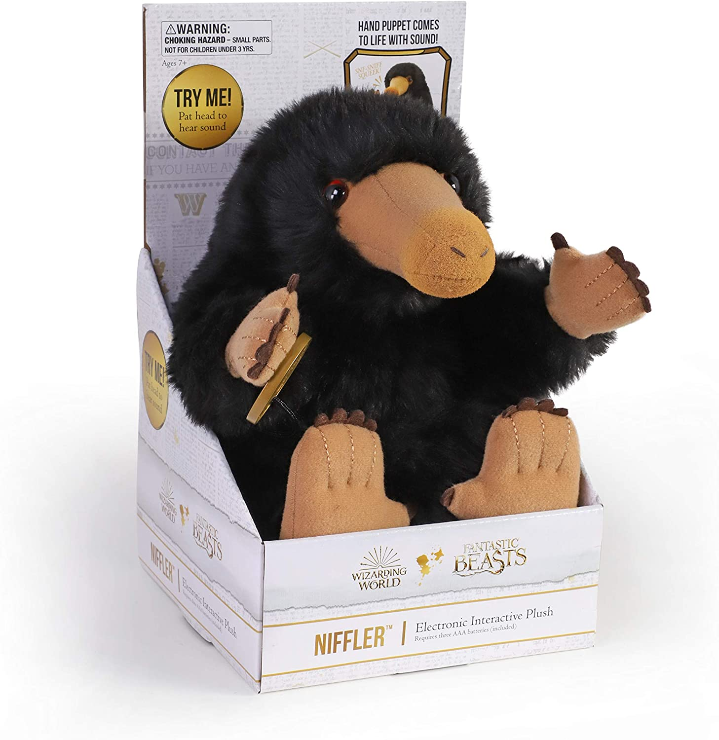 The Noble Collection Niffler️ Electronic Interactive Plush Puppet