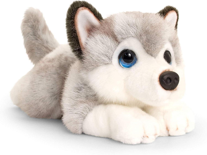 Keel Toys SD2520 - Cenefa para Cachorros (25 cm), Color Gris y Blanco