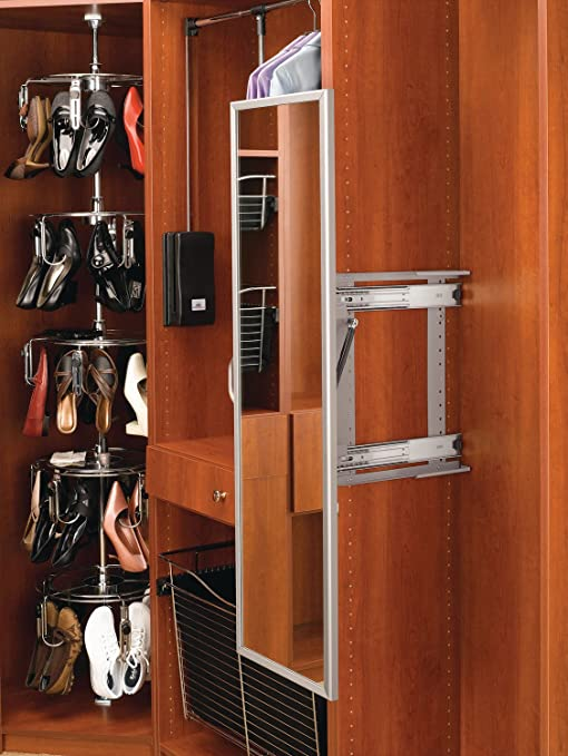Amazon.com: Rev A Shelf Pullout Closet Mirror, Satin Nickel: Home U0026 Kitchen