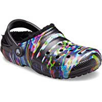 Crocs Men's and Women's Classic Tie Dye Lined Clog | Warm and Fuzzy Slippers