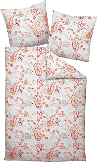 Janine Design Seersucker Bettwäsche Tango 20021 04 Orange 155x220 Cm