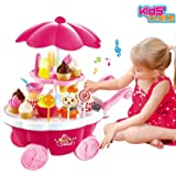 Kids Choice Pretend Play Toy Ice Cream & Sweet Shopping Cart with Music Role Play Toys