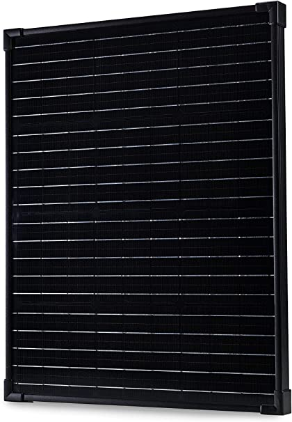 Boat 12V Solar Panel 50W RV Solar Panels for Homes nrgGo 50 Watt Solar Panel Monocrystalline Lightweight Portable Solar Panels for RV All Black High Efficiency 50 W Solar Panel 12V Homes