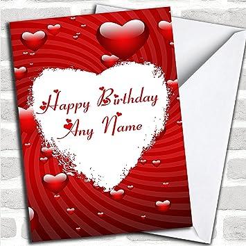 Weiß Love Herz Romantik Geburtstag Karte Mit Umschlag Kann