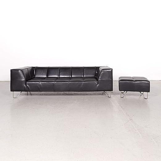 BoConcept Milos Designer Leder Sofa Garnitur Schwarz ...