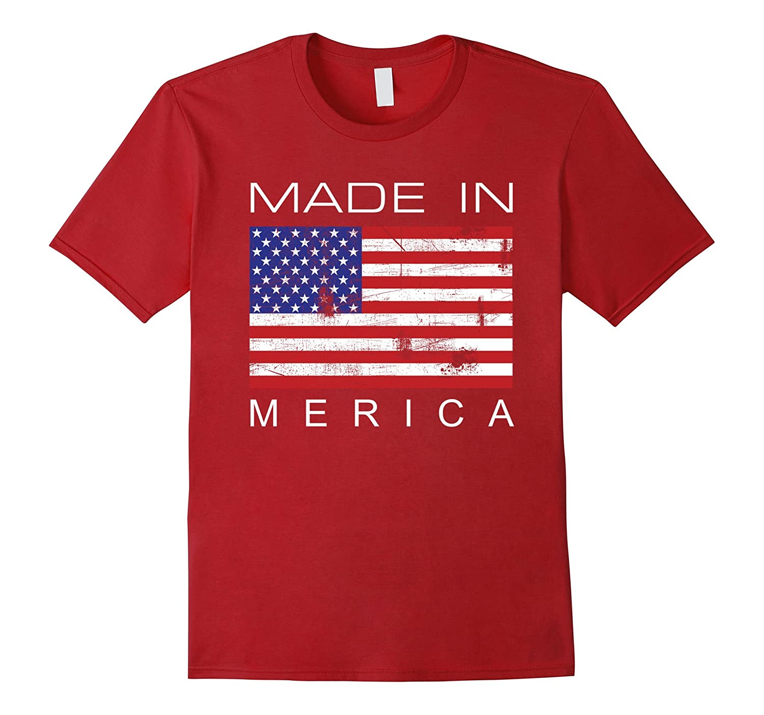 'Merica T Shirt Tee Vintage USA Proud Flag Memorial Day Gift-TH
