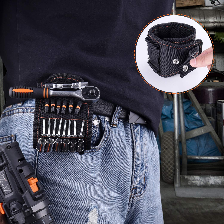 Ehemann Bohrern Vater//Papa Bestes einzigartiges Geschenk f/ür M/änner Magnetisches Armband TACKLIFE MWB1A,mit starken Magneten zum Halten von Schrauben DIY- Heimwerker N/ägeln