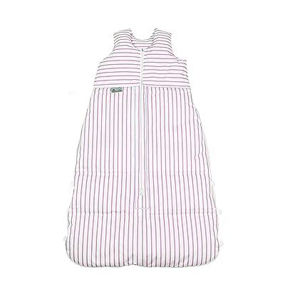 ARO ARTLÄNDER 87590Sac de couchage duvet 130cm (peut être réduit à 120cm et 110cm), design à rayures, blanc/rose