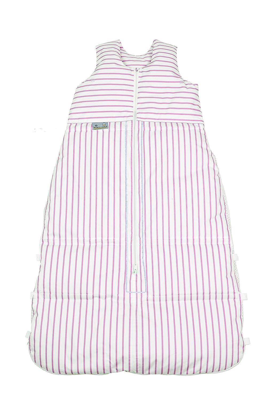 Climarelle Daunenschlafsack, längenverstellbar, Alterskl. älter 24 Monate, Streifen weiß - rosé, 130 cm