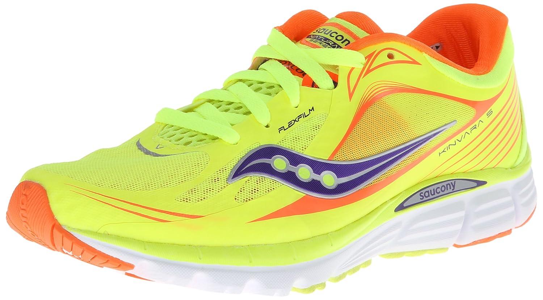 Saucony Women's Kinvara 5 Running Shoe B00GWJPN1E 5 B(M) US|Citron/Viziorange/Purple