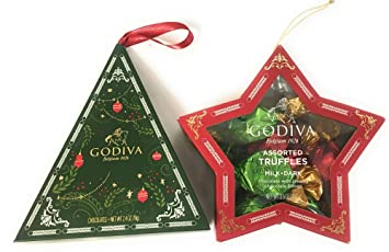 Amazon.com : Godiva Chocolate Christmas Tree Ornament Bundle: 3.5 ...