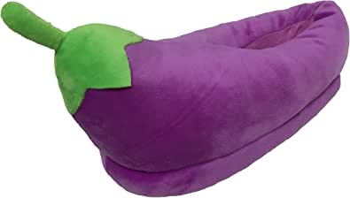 PLUSHERS Original Eggplant Emoji Premium Quality Slippers | 2 Sizes