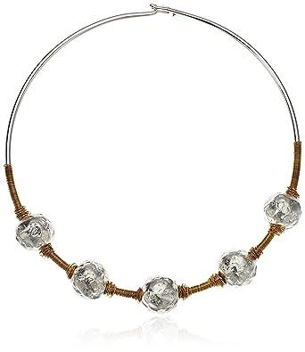 Amazon.com  Robert Lee Morris Sculptural Bead Wire Collar Necklace  Jewelry dcf40c3b86629