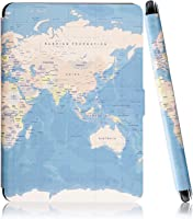 Capa Case Kindle Paperwhite WB® Auto Liga/Desliga  - Ultra Leve Mapa Mundi