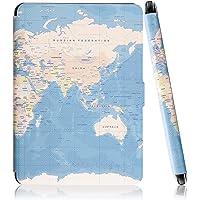 Capa Kindle Paperwhite Gerações Anteriores (Não Compatível com Novo Kindle Paperwhite 10ª Geração) Ultra Leve Mapa Mundi