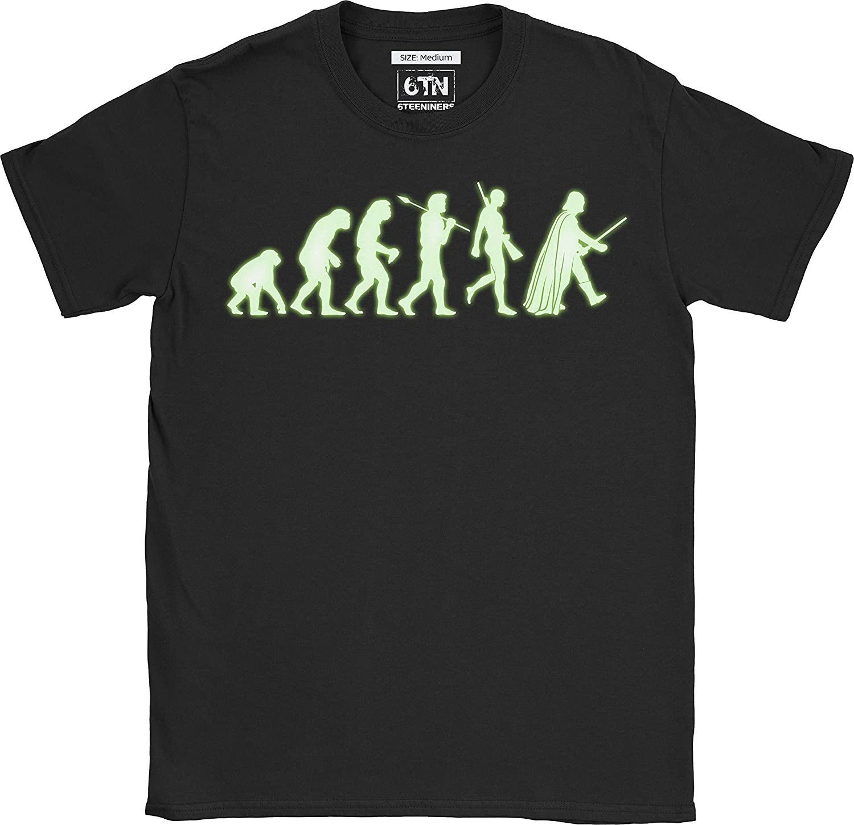 6TN Hombre Brilla en la Oscuridad Evolution a Vader Camiseta