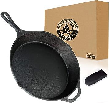 Backcountry Iron - Hierro fundido (preestacionado para superficies antiadherentes, hornos de cocina/parrilla/plancha, cocina freidora, restaurante, ...