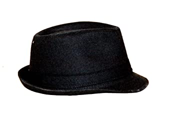 FedoraSale Classic Cotton Felt Fedora Hat - Black at Amazon Men s Clothing  store  8262f9063888
