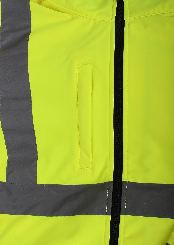 EN20471 Blackrock 80500 Yellow//Black High Visibility Soft Shell Jacket Class 3 Large