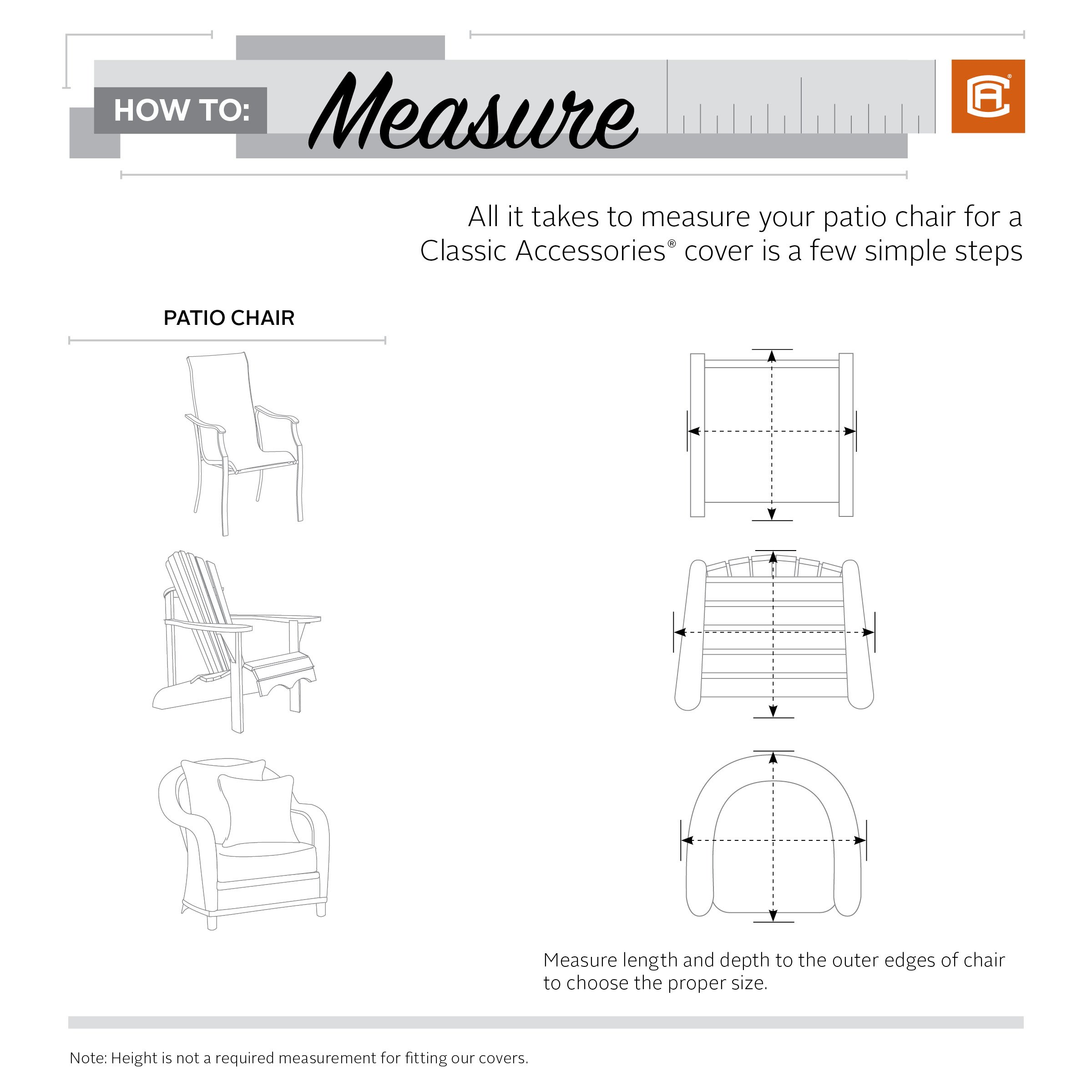 Classic Accessories Veranda Patio Deep Seat Lounge Chair Cover (4-Pack) by Classic Accessories (Image #2)