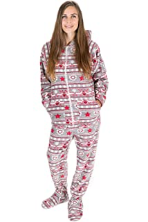 76dbd5888b Kajamaz Pijama entero con pies para adultos de Navidad Pijama entero ...