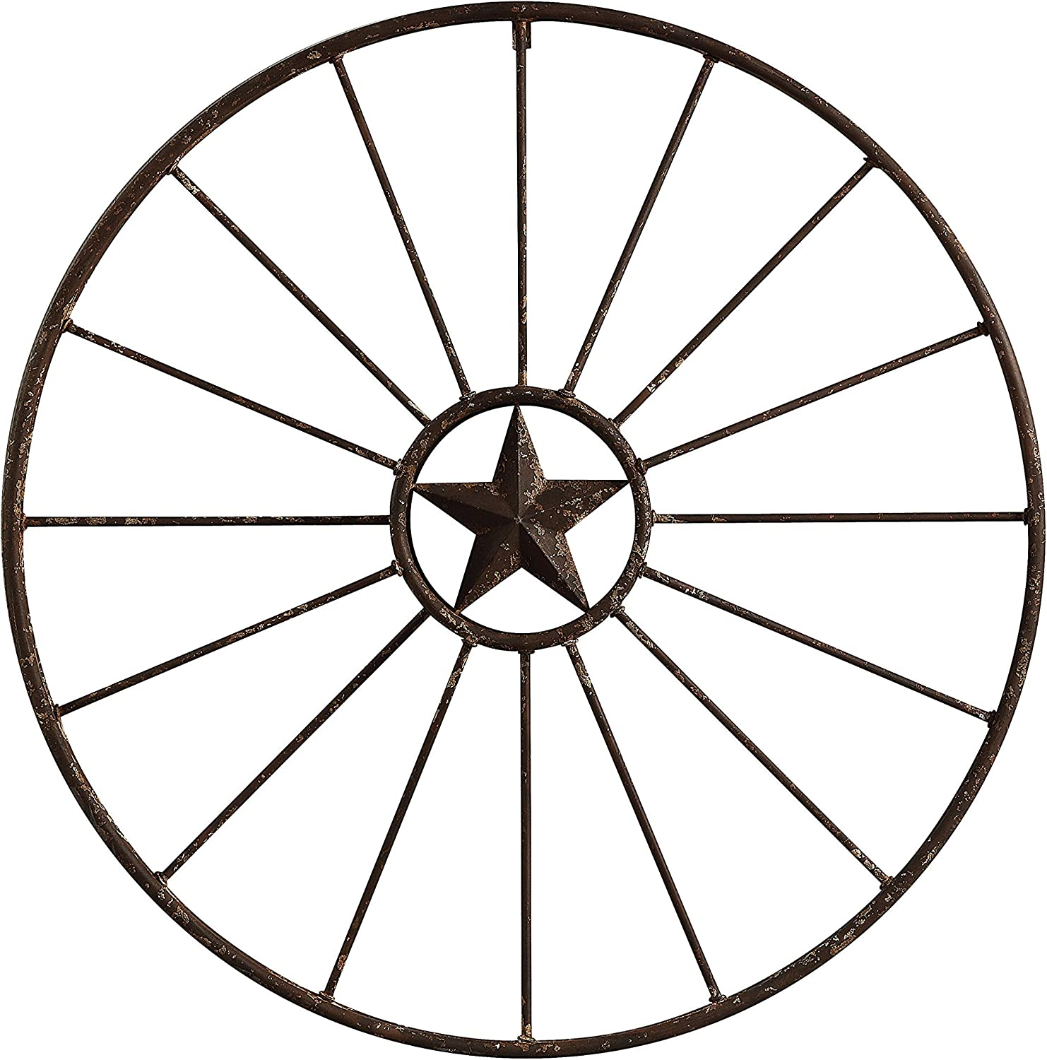 Creative Co-op Wagon Wheel with Star Wall Décor