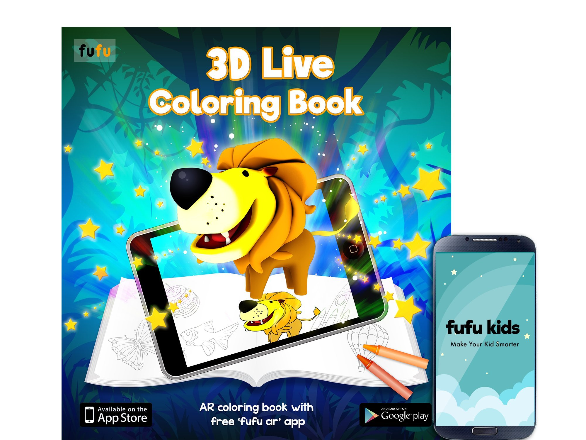 Fufu 3d Live Coloring Augmented Reality Coloring Activity