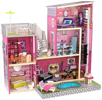 Kidkraft 65833 Mansion Dollhouse For 12 Dolls Pink Standard Size