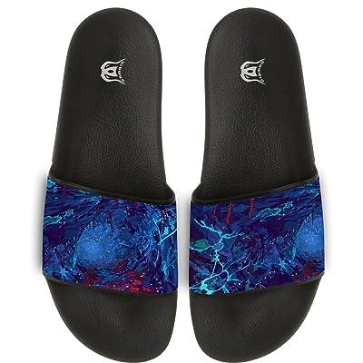 Abstract Pattern Slippers Skid-proof Indoor Outdoor Flat Flip Flops Beach Pool Slide Sandals For Men Women